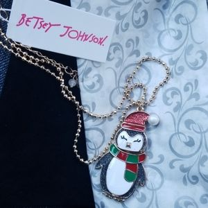 Betsey Johnson Penguin Necklace